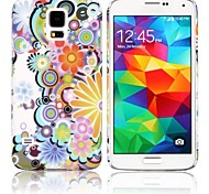 Caso Fiori Hard Cover colorata per la galassia S5 i9600 di Samsung