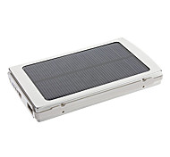 10000mAh Solar External Battery Sliver for Mobile Devices