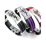 Men's Stainless Steel Silicone Bracelets