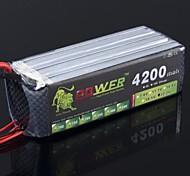 Лев 22.2V 6S 4200mAh 30C Lipo батареи питания для Trex Радиоуправляемый вертолет 550 600 (Т Plug)