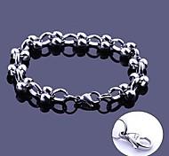 Larghezza braccialetti di collegamento catena di gioielli in acciaio inox regalo personalizzato inciso a mano 1,2 centimetri