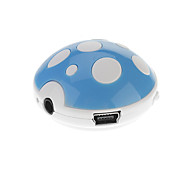 TF Card Reader Digital Portátil Mini Mushroom MP3 Player