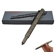 LAIX B7 EDC Aviation Aluminum Outdoor Self-Defense Tactical Black Ink Pen - Brown