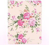 The Rose Pattern PU Leather Full Body Case with Stand for iPad 2/3/4