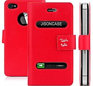 Custodia flip in similpelle per iPhone 4/4S