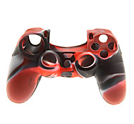 2 PCS Mushroom Caps and 2 PCS Red Thumb Stick Grips and 1 PC Silicone Case(Red+Black)