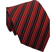 Italie Hommes Style classique Marrom Affaires Loisirs rayé microfibre cravate