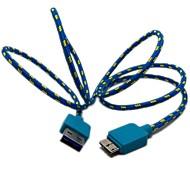 3 фута Плетеный Ткань Micro USB 3.0 данных Кабель зарядного устройства Samsung Note 3 N9000 S5 i9600