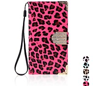 Fashion Wallet Leopard Case Flip Leather Cover with Card Holder/Strap for Samsung Galaxy S5 i9600