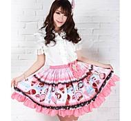 Pink recht Lolita Erdbeeren Eis Prinzessin Kawaii Rock Schöne Cosplay