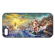 Romántico hermoso patrón Ariel La Sirenita de plástico duro caso para iPhone 5/5S