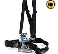 HGYBEST Freedom Comfortable Elastic Chest Belt for GoPro Hero 3 / 3+ / 2 / Flashlight+two accessories - Black