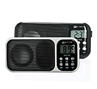 "HI-RICE 102 1.2 ""LCD Portable Media Player Altavoz w / USB 2.0, TF, FM, reloj, calendario, Torch - (Blanco / biack)"