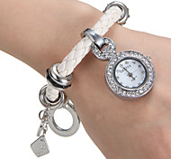 Women's Fashion Watch Bracelet Watch Quartz PU Band White Brand