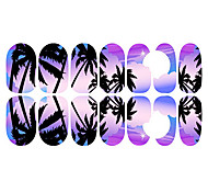 12PCS Romantic Bluish Violet Moonlight Luminous Nail Art Stickers