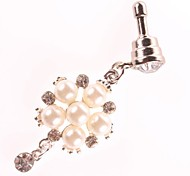 Diamond e Pearl Estilo 3,5 MM Zircon Anti-poeira Earphone Jack para iPhone e iPad