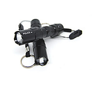 5W Black Aluminum Alloy AA Batteries Portable LED Flashlight