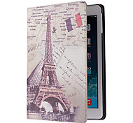 Eiffel Tower Pattern PU Leather Full Body Case with Stand for iPad Air