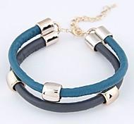 Women's Charm Bracelet Leather/Acrylic
