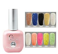 1PCS CH Soak-off Pink Bottle Astral Glitter UV Color Gel Polish NO.201-210(15ml,Assorted Color)