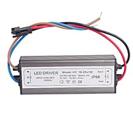 Waterproof IP66 (18-25)x1W LED Driver Power Source Converter (60-90V,300mAh)