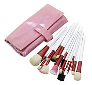 Pro 20 PCs Natural Goat Hair Makeup Brush Set with Pink Pouch