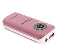 Yibaiwan 5600mAh bateria externa com lanterna para o dispositivo móvel (rosa)