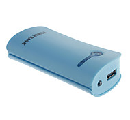NOYUDA 5600mAh External Battery with Flashlight for Mobile Device(Blue)