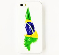 Punk Brazilian Flag Pattern Polycarbonate  Hard Case for iPhone 4/4S