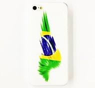 Patrón de la bandera brasileña Punk estuche rígido de policarbonato para el iPhone 4/4S