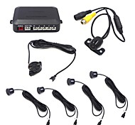 4 Sensors Car LED Parking Sensor Auto Reverse Backup Radar Detector System With Rear Camera