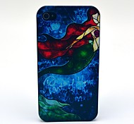 Retro Beautiful Mermaid Pattern PC Hard Case for iPhone 4/4S