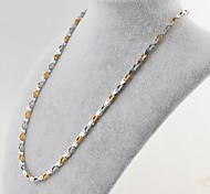 Fashion Three Colors Titanium Steel Box Chain Necklace