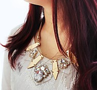 Exaggerated Luxury Large Gemtone Necklace for Women