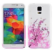 Kirschblüte Pattern Ultra-Slim Glatte Soft Gel TPU Tasche für Samsung Galaxy i9600 S5