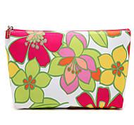 Colorful Flower&Tree Leaf Pattern Clutch Cosmetic Bag Makeup Storage Bag