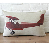 Cute Cartoon Plane Pattern Car Auto Seat Back Cushion Cuddle Pillow Sofa Soft Cushion