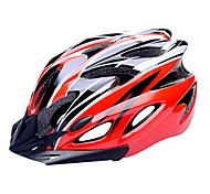 FJQXZ EPS + PC Rosso e Nero Casco da bicicletta Integralmente-stampato (18 Vents)