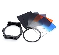 S1307   8-in-1 Gradual ABS Lens Filters  Mount  Ring Set for 77mm Lens Camera - Black