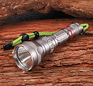 D06 Rechargeable 5-Mode 1xCree XM-L U2 Waterproof Diving Flashlight(1x18650,1200LM,Grey)