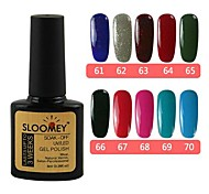 10er SLOOMEY UV Color Gel Polish No.61-70 (8 ml, Mischungs-Farbe) 10 Farbe Gel Set