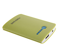 NOYUDA 5000mAh External Battery with Flashlight for Mobile Device(Green)