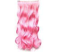 Resistência de alta temperatura de 20 polegadas longo encaracolado 5 Clipe peruca Extensão 9 cores disponíveis