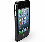Ultra mince 0.7mm cas de vue de protection en alliage d'aluminium Bumper pour iPhone 4 / 4S