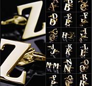 Weinlese-Männer A-Z Kupfer Gold Manschettenknopf (1 Paar)