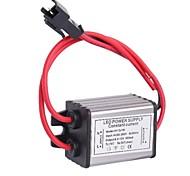 Водонепроницаемый IP66 3X1W LED Driver Источник питания конвертер (6-12V, 300mAh)
