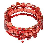 Wooden Bead Beaded Bracelet