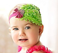 Children's Headwear feather flower crystal Hair Band Headband