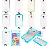 Elonbo J77 Fashion Simple Design Hybrid TPU Frame Hard Case Cover for Samsung Galaxy S5 I9600 (Assorted Colors)