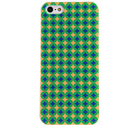 Blue and Green Star Pattern PC Hard Case with Transparent Frame for iPhone 5/5S
